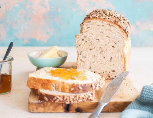 Pane morbido ai semi di girasole