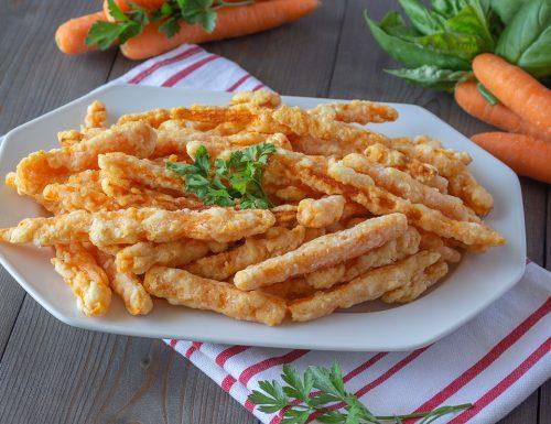 Patatine croccanti di carote