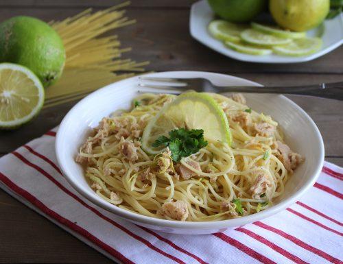 Spaghettini tonno e limone: primo piatto fresco e aromatico