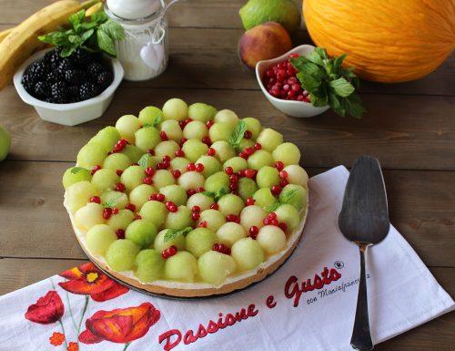 Cheesecake al melone e ribes