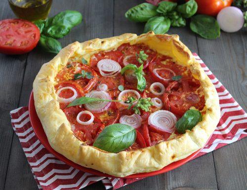 Torta salata di pomodori e cipolla