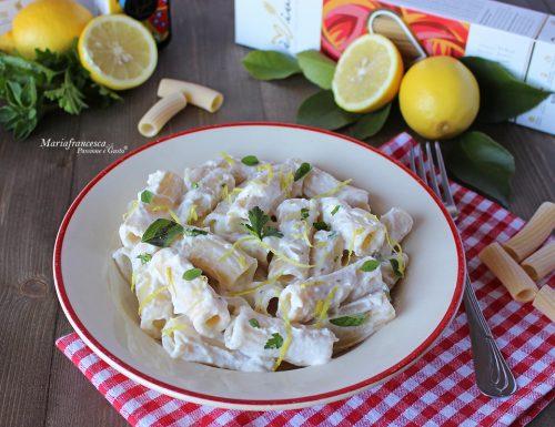 Tortiglioni con ricotta al profumo di limone: ricetta facile, veloce e sfiziosa