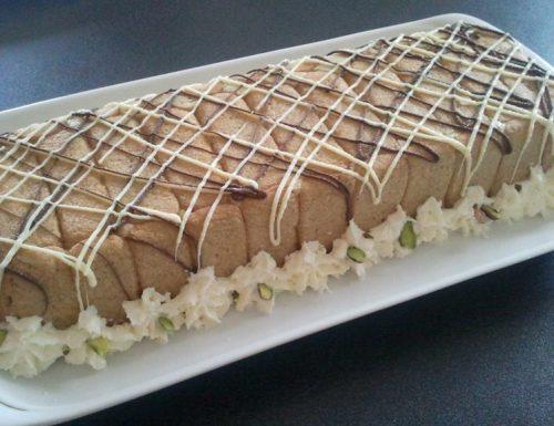 Semifreddo al pistacchio di Bronte variegato alla Nutella
