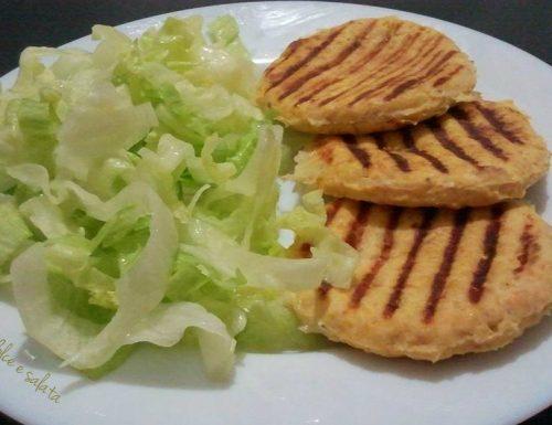 Hamburger di pollo e zucca
