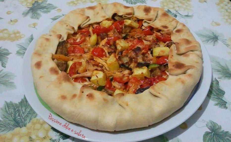 Ricetta torta salata verdure grigliate
