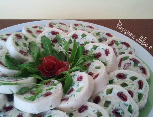 Girelle di pane al profumo di rucola