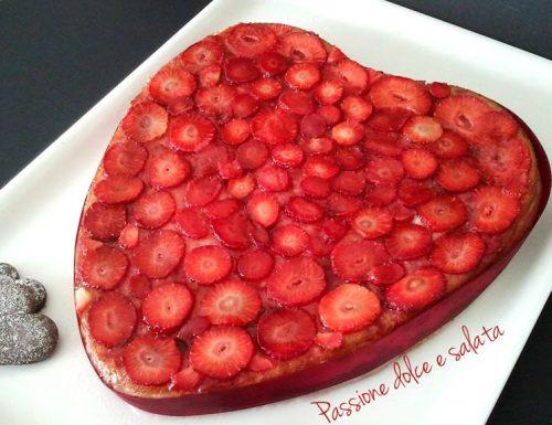 Cuore di fragole – torta senza glutine