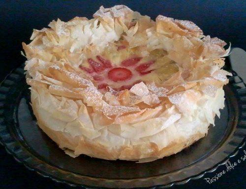 Torta di pasta fillo alle mele