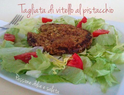 Tagliata di vitello al pistacchio