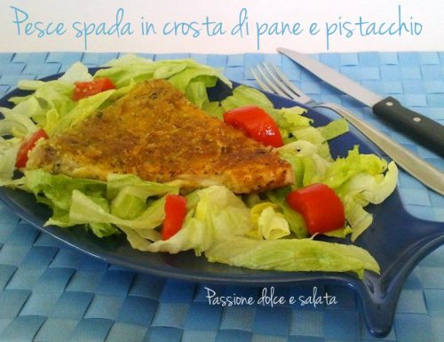 Pesce spada in crosta di pane e pistacchio