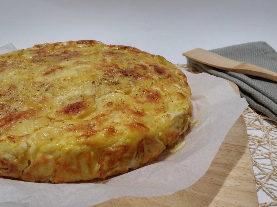 tortilla di patate e formaggi