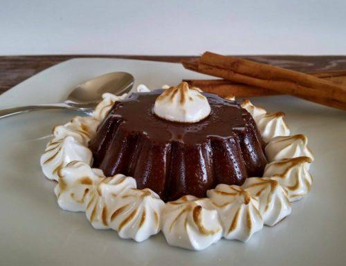 Budino di cioccolato alla cannella