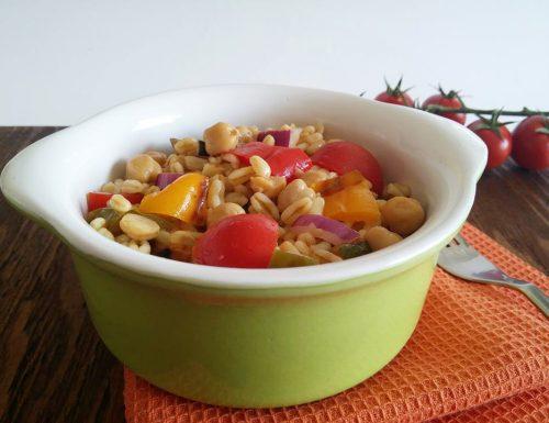 Insalata di grano Kamut con verdure grigliate