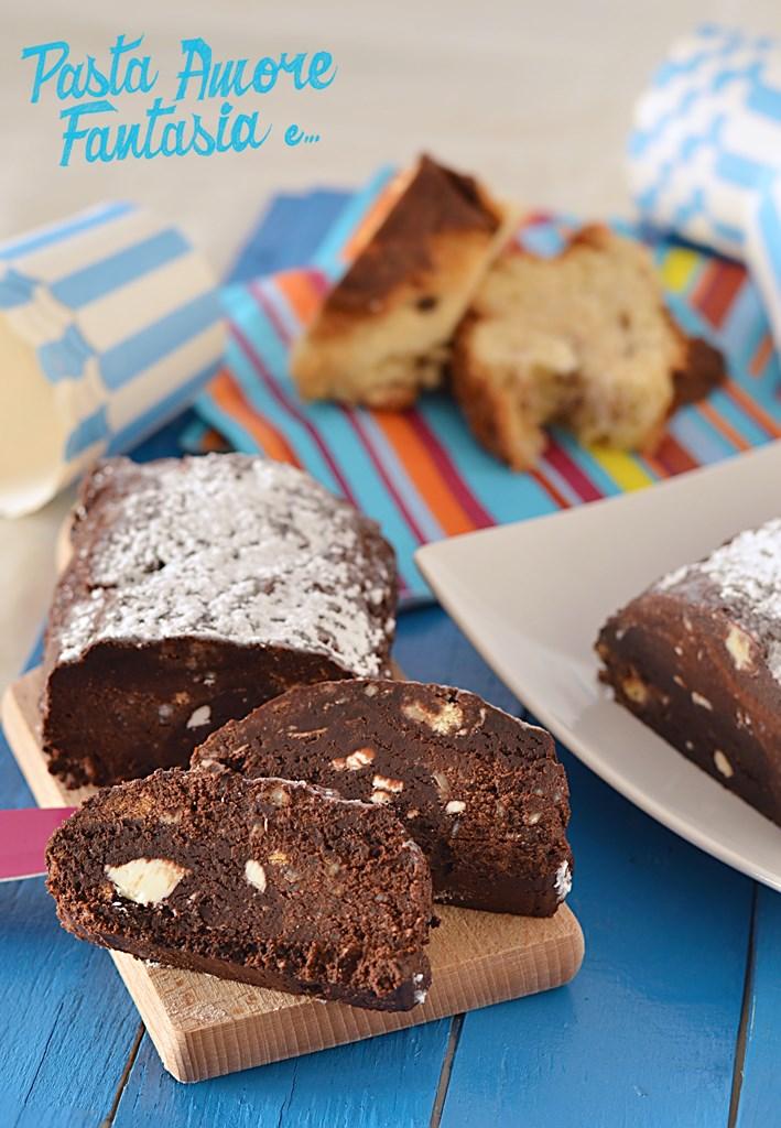 Salame di Pandoro al Cioccolato con procedimento Bimby e Tradizionale