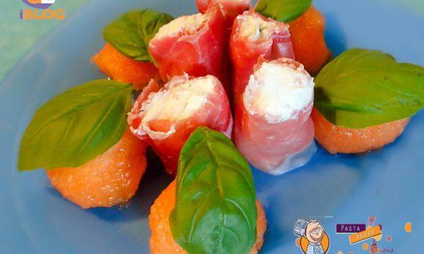 Sushi di Prosciutto Crudo con Caprino e Melone