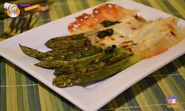 Asparagi filanti con Mozzarella al forno, secondo piatto