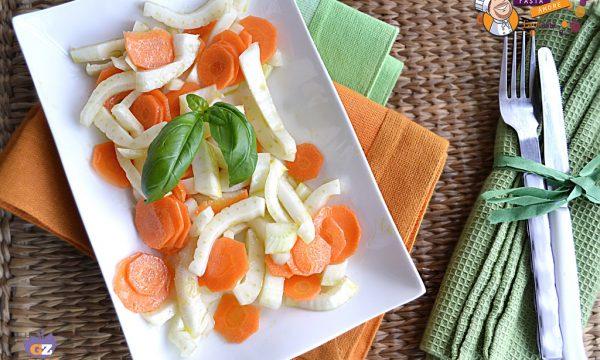 Insalata finocchi e carote, ricetta contorno