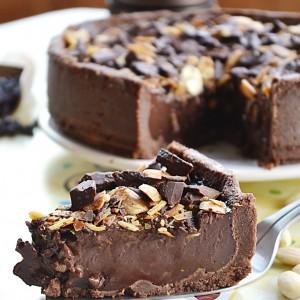 Torta gelato con cioccolato e mandorle2