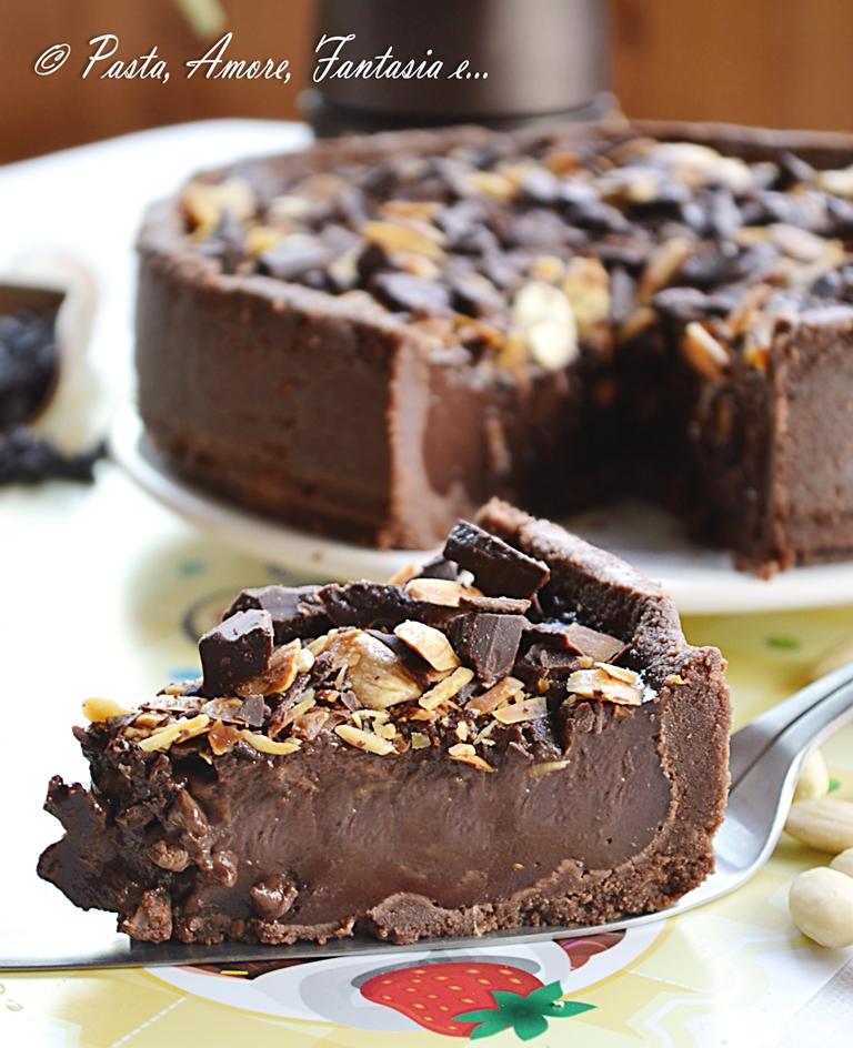 Torta gelato con cioccolato e mandorle | ricetta dolce
