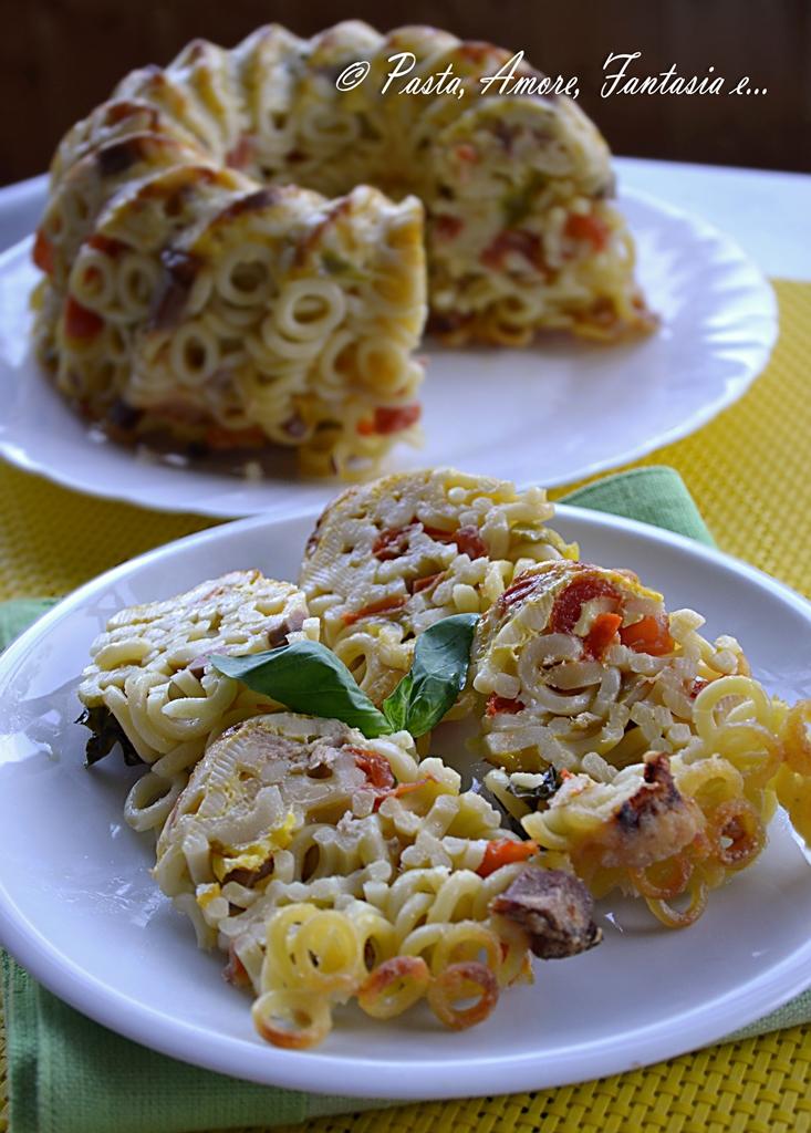 Ciambella di Anelletti Siciliani al Forno, primo piatto