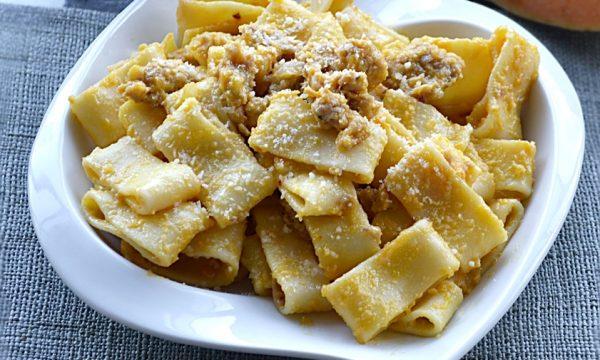 Calamarata Zucca e Salsiccia, primo piatto
