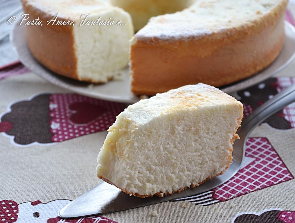 Angel Cake, ricetta dolce con procedimento Bimby e tradizionale