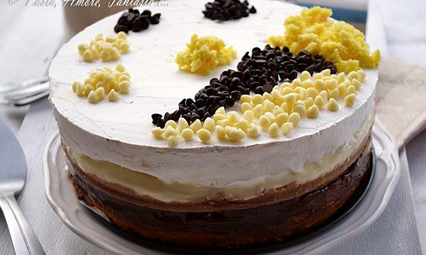 Torta con Crema al Mascarpone e Crema alle Nocciole, ricetta Bimby e tradizionale