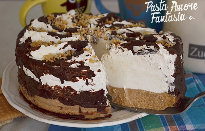 Torta fredda Cioccolato e Panna, ricetta dolce