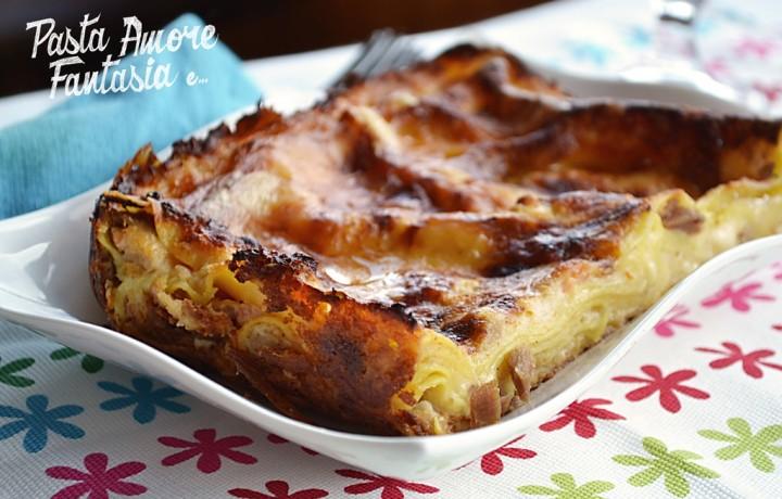 Lasagne con Salmone e Tonno, primo piatto