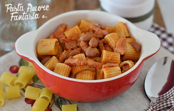 Pasta, fagioli e pancetta