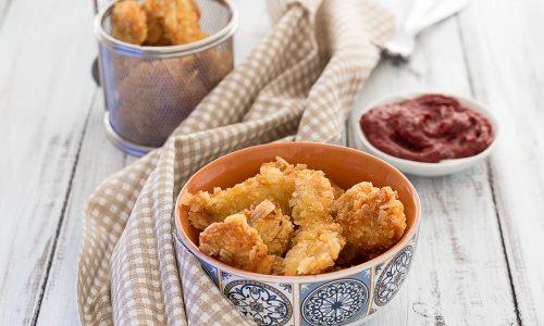 Crocchette di Pollo Fritte con Panatura di Patatine
