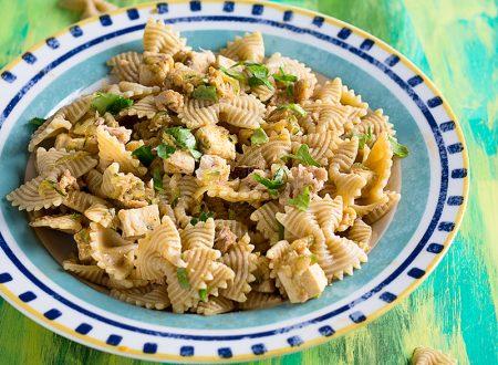 Pasta integrale con Zucchine e Pesce Spada