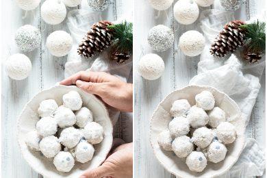 Biscotti Palle di Neve (Snowballs) alle Mandorle, senza burro