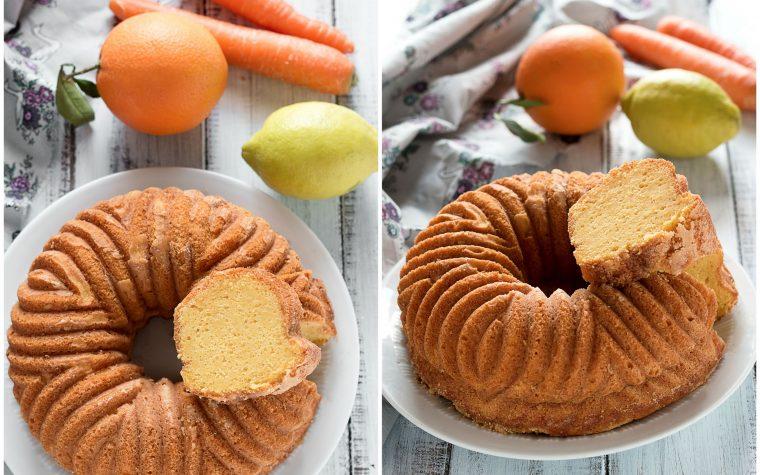 Torta Ace, con Arancia, Carote e Limone