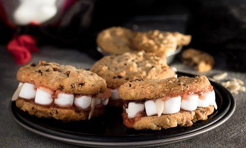 Cookies Dentiera con frutti rossi