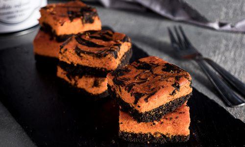 Brownies Arancioni e Neri Marmorizzati