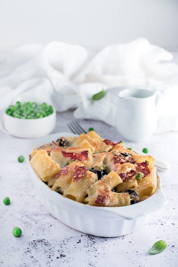 Pasta al Forno Bianca con Funghi