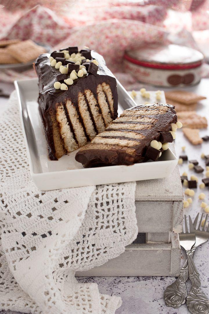 Mattonella di Biscotti con Nutella e Mascarpone