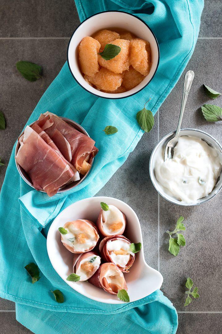 Sushi all' Italiana con Speck e Melone