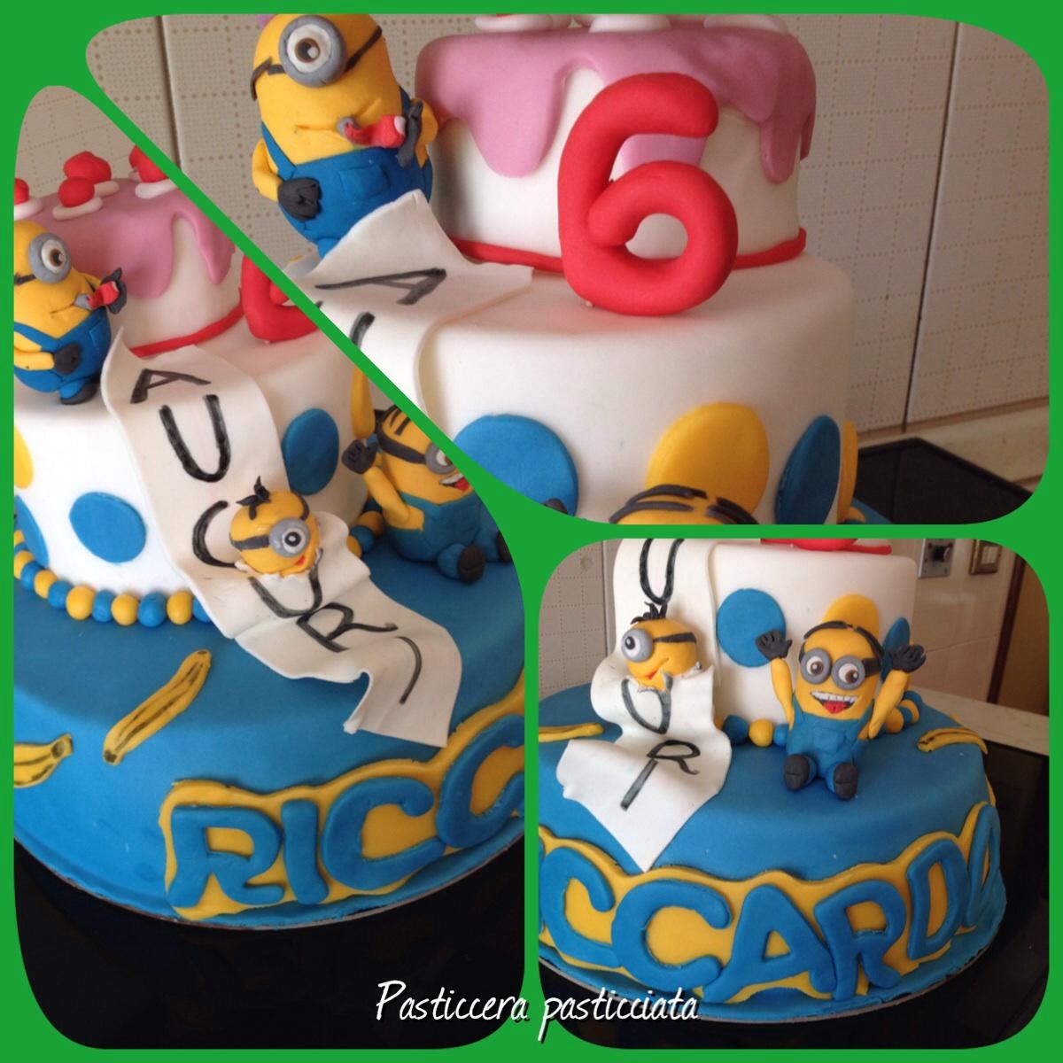 torta minion in festa
