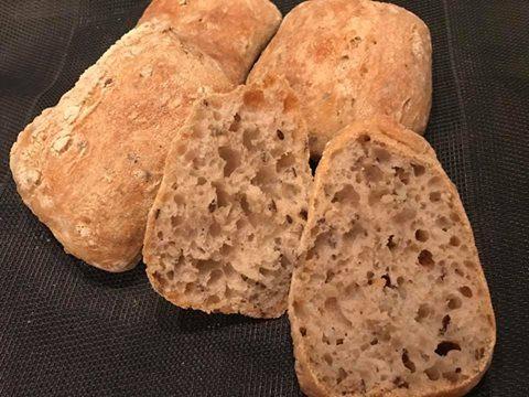 Ciabattine di farina tipo 2 con semi vari