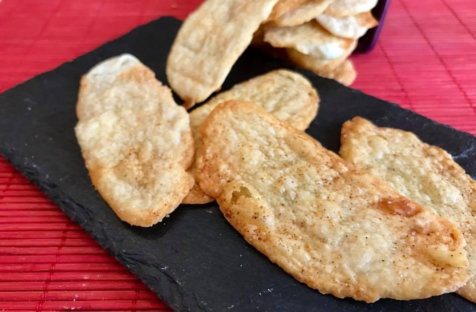 Sfogliette al formaggio e paprika con esubero