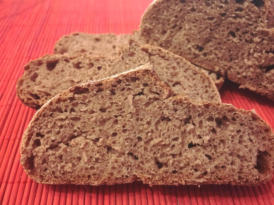 pane con farina di castagne e farina verna