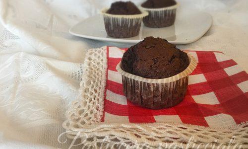 Muffin americani al cioccolato e noci