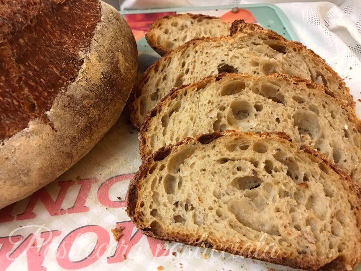 Pane con farina 7 cereali e farina medio forte tipo 1