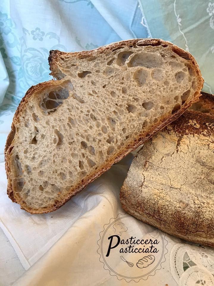 Pane con farina tipo 2 con tecnica di autolisi classica