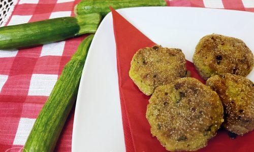 Polpette di zucchine e ceci cotte al forno