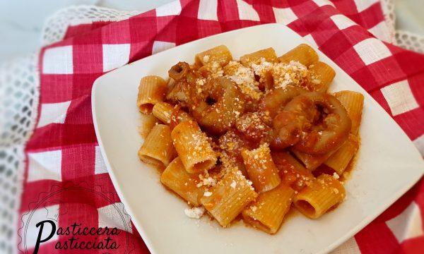 Rigatoni con la pajata (piatto tipico romano)