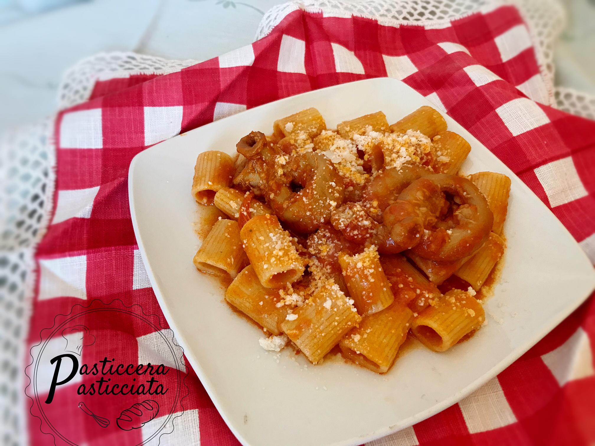 Rigatoni con la pajata piatto tipico romano pasticcera for Piatto tipico romano