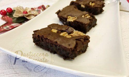 Brownies cioccolato e noci facilissimi